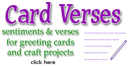 Greeting Card Verses