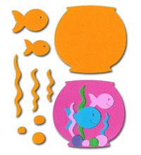 Large Fishbowl Scrapbooking Kit - £1.99
