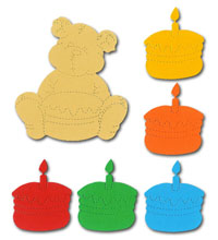 Teddy Bear & Birthday Cake Crafting Kit - £1.25