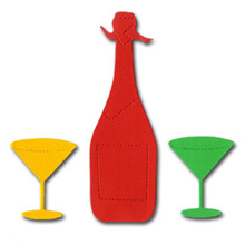 Bottle + Martini Glasses Crafting Kit - £1.49