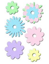 Large Pastel Flowers Scrapbooking Crafting Kit - £0.99