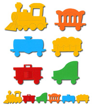 Train Engine & Carriages Crafting Kit - £1.99
