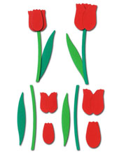 Tulip Flower Sculpting Crafting Kit, Red - £0.49