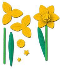 Daffodil Flower Sculpting Crafting Kit, Yellow - £0.49