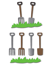 Garden Fork + Spade with Grass Crafting Kit - £0.49