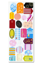 Patterned Tags - £0.34