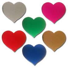 Pack of 20 x MIXED SELECTION OF HEARTS Die-cuts /& Padded Embellishments