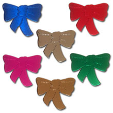 Bow Shapes, Foil Mirror Card - £0.25