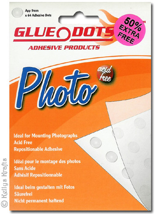 Sticky Photo Glue Dots, 9mm (Pack of 96) - £1 22
