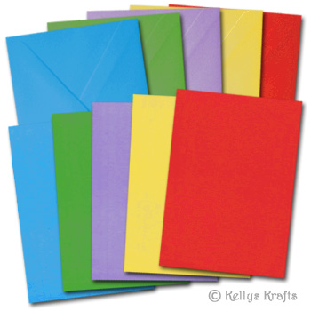 A6 Bright Coloured Card Blanks