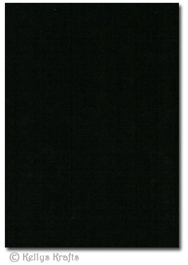5 Sheets Of Black A4 Crafting Card 163 1 75