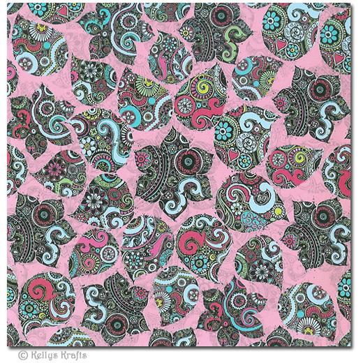 6 x 6 patterned paper floral design 1 sheet 0 15