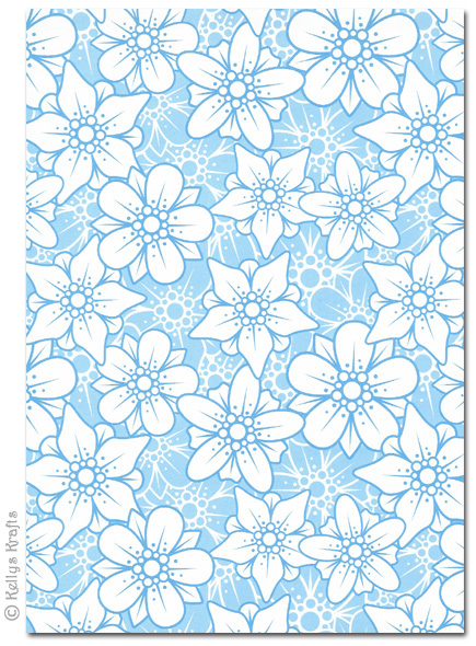 A660 Patterned Card Flowers Blue And White 660 Sheet £6060 Custom Blue Patterned Sheets