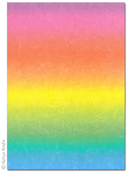 A4 Patterned Card Rainbow Rays Bright Vivid 1 Sheet