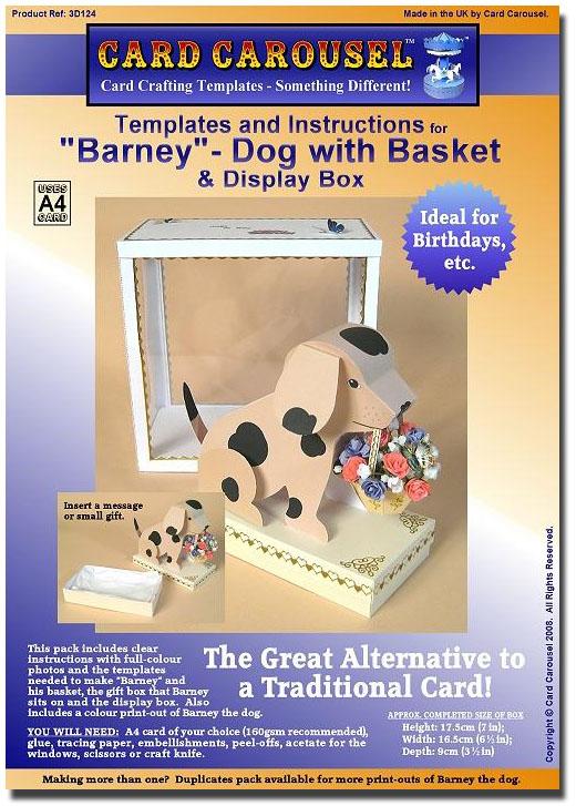 Card Carousel Craft Template Dog Barney 3d124 Duplicate Pack