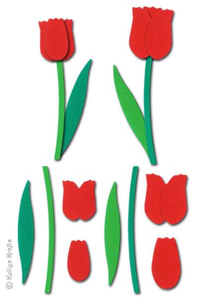 tulip flower sculpting crafting kit red 0 49