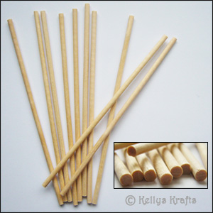 Wooden craft dowels small 10 pieces card for Wooden dowels for crafts