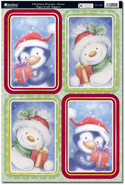Christmas Toppers For Card Making.Kanban Craft Toppers Christmas Presents Green Pct1045 1 75