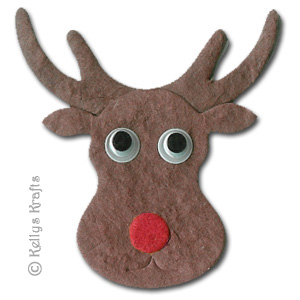 Cute reindeer head template