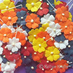 Colour paper flower yelomdiffusion mulberry paper flowers on stems mixed colours 4 99 card mightylinksfo