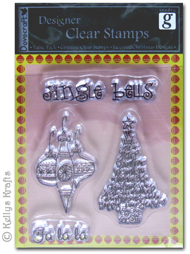 Clear Stamps Christmas Tree Baubles Jingle Bells Fa
