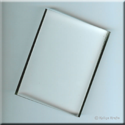 Clear acrylic block x large rectangle card for Large acrylic block