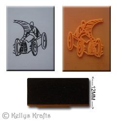 Foam Mounted Rubber Stamp Racing Car 163 0 50 Card