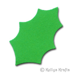 Holly Leaf Xmas Die Cut Shapes, Bright Green (Pack of 10) - £0.29